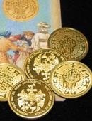 Vintage-Looking Coin Set with Coin-Shell
