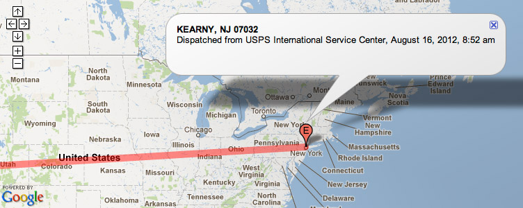 Shipping tracking on a map